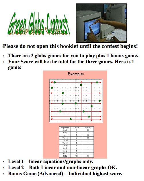 green globs and graphing equations music